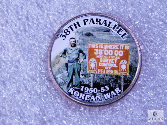 Korean War Stickered Commemorative Kennedy Half