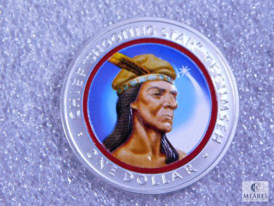 2002 Shawnee Nation .1 oz. Silver - Colorized