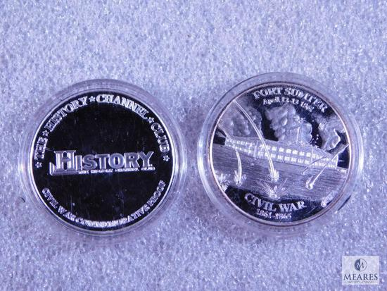 Two History Channel Club Proof Tokens