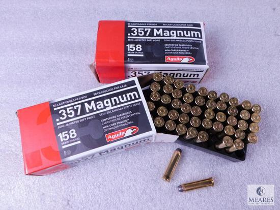 100 Rounds Aguila .357 Magnum 158 grain SJSP