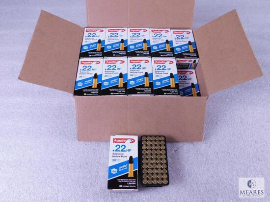 1000 Rounds Aguila .22 Long Rifle Subsonic 38 Grain Hollow Point