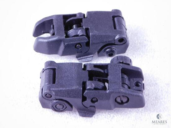NEW Flip Up Front and Rear AR15 Rifle Sights