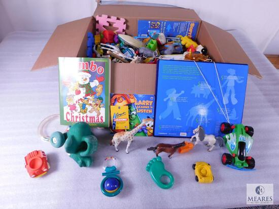 Large Lot of Assorted Childrens Toys & Books