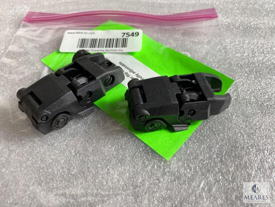 New Front and Rear Flip Up AR15 Rifle Sights - Fully Adjustable