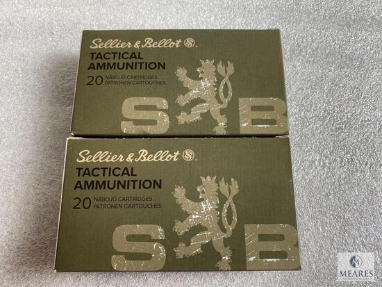 40 Rounds Sellier and Bellot 6.5 Creedmoor Ammunition 140 Grain FMJBT
