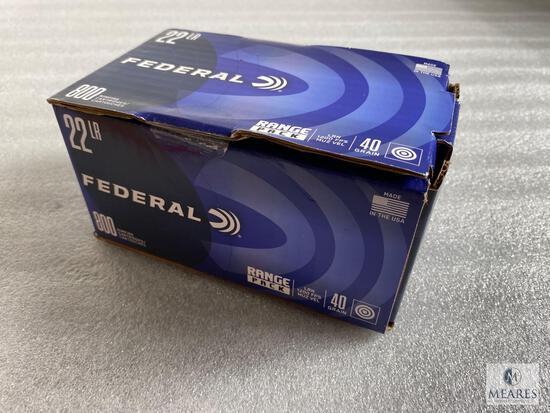 800 Rounds Federal .22 Long Rifle Ammunition 40 Grain