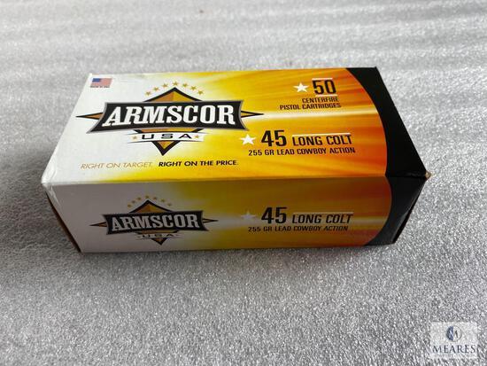 50 Rounds Armscor 45 Long Colt Ammunition 255 Grain LRN