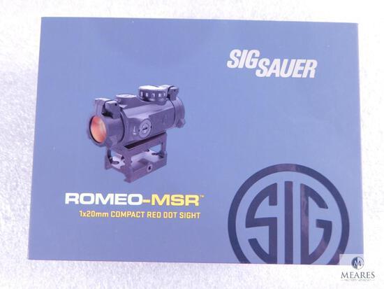 New Sig Sauer Romeo-MSR 1x20mm Compact Red Dot Sight 2 MOA