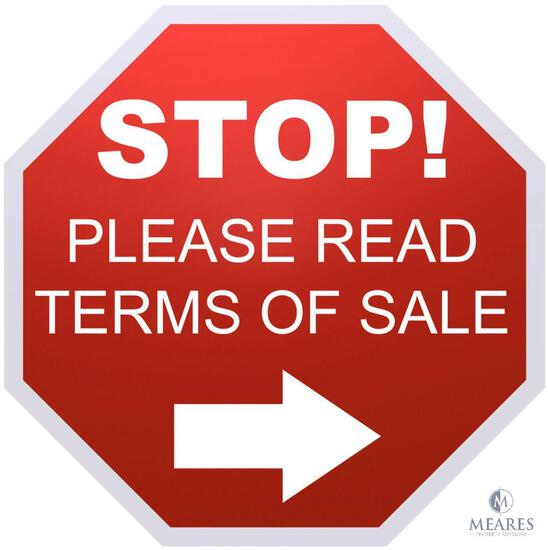 Bidders - Please Read Before Participating in This Auction