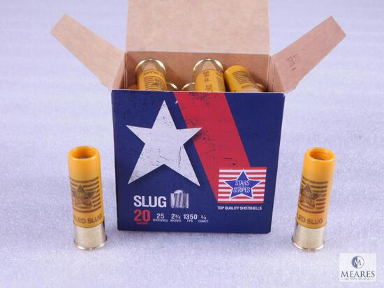 "25 Rounds .20 Gauge Shotgun Slugs. 2 3/4"" 3/4 Ounce 1350 FPS"