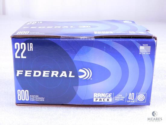 800 Rounds Federal .22 Long Rifle Ammo. 40 Grain