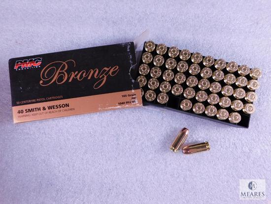 50 Rounds PMC .40 S&W Ammo. 165 Grain Jacketed Hollow Point Self Defense Ammo