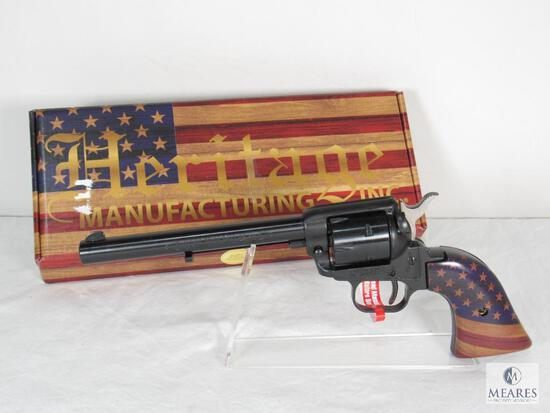 New Heritage Golden American Flag Rough Rider .22 LR Revolver