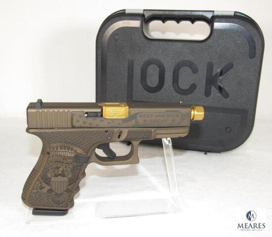 New Glock 19 Trump 45th Edition 9mm Semi-Auto Pistol with Zaffiri Gold Barrel