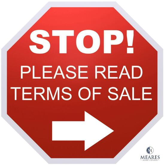 Buyers - Please Read Terms Before Participating in This Auction