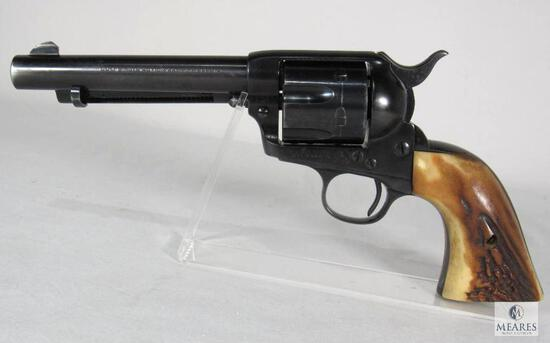 1901 Colt SAA Single Action Army .38 Special Revolver w/ Stag Grips