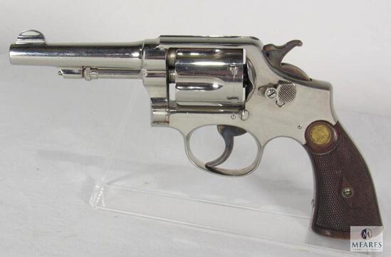 Smith & Wesson Model of 1905 .38 Special Nickel Revolver