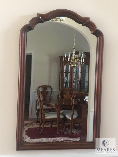 "Wood Framed Ornate Arch Top Wall Mirror 45""x 28"""