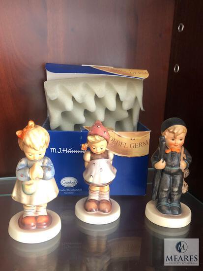 Lot of 3 M.J. Hummel Goebel Porcelain Children Figurines