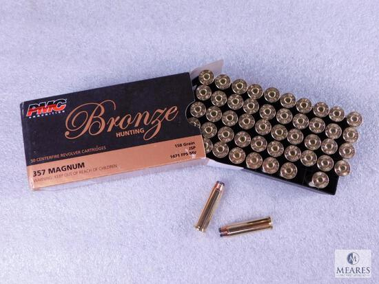 50 Rounds PMC .357 Magnum Ammo 158 Grain Jacketed Soft Point