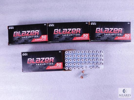 200 Rounds CCI Blazer 9mm 115 Grain FMJ Ammo