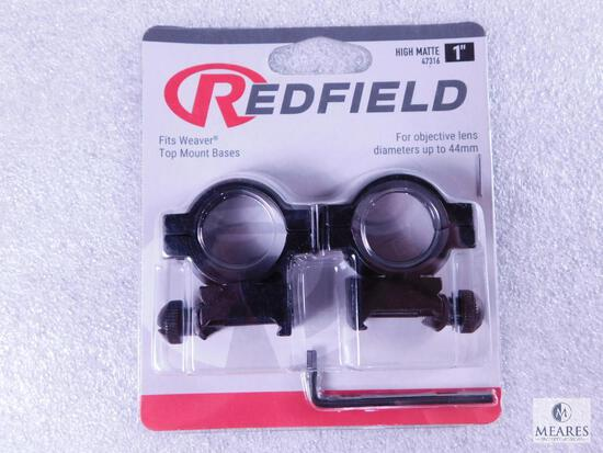"""New Redfield 1"""" Scope Rings Matte Finish and High Height"""