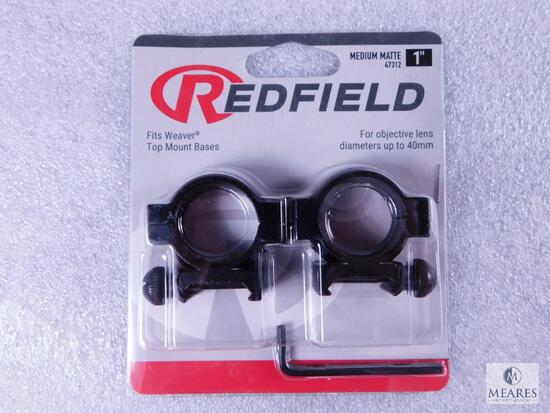 "New Redfield 1"" Scope Rings Matte Finish and Medium Height"