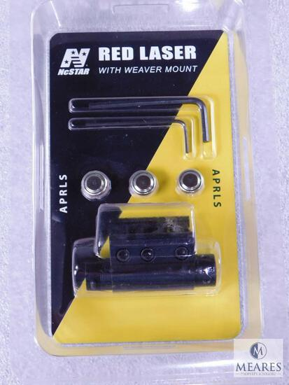 New NcStar Red Laser with Weaver Mount Great for Pistol, Rifle or Rifle with Rail