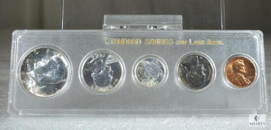 1964 BU Silver Set Looks Like a Promotional From Standard Savings & Loan Assn.