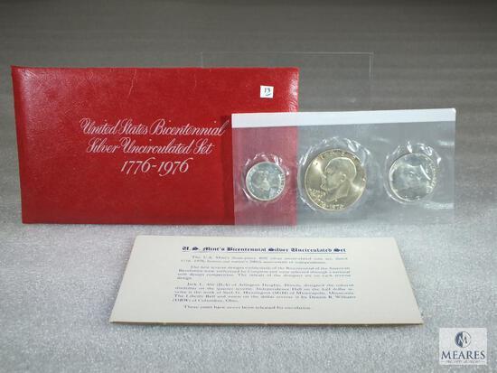 1976 BU Bicentennial 3 Piece Silver Set Original Mint Package