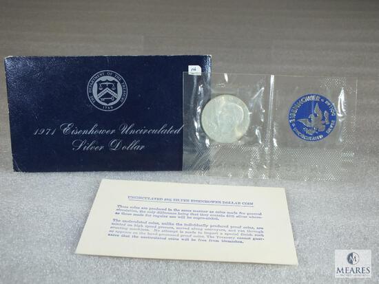 1971 BU Ike Silver Dollar
