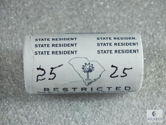 Roll of 25 SC BU Quarters in Restricted For SC Residents Only Wrapper - PH Mint