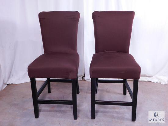 Group of Two Upright Occasional Stools