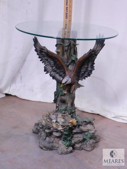 Glass-top Eagle Table