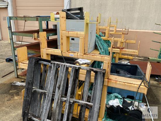 Metal Racks Behind Building - Metal Racks and Scrap