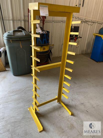 Yellow Metal Storage Rack