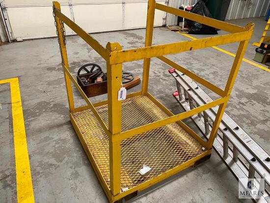 Yellow Metal Forklift Man Lift