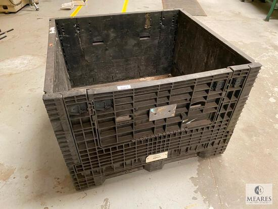 Plastic Gaylord-Box Style Storage Bin
