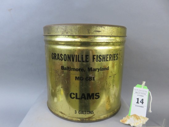 Grasonville Fisheries Clam Tin