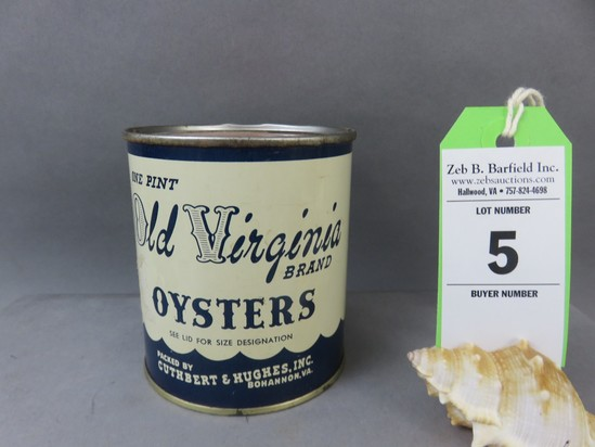 Old Virginia Oyster Can
