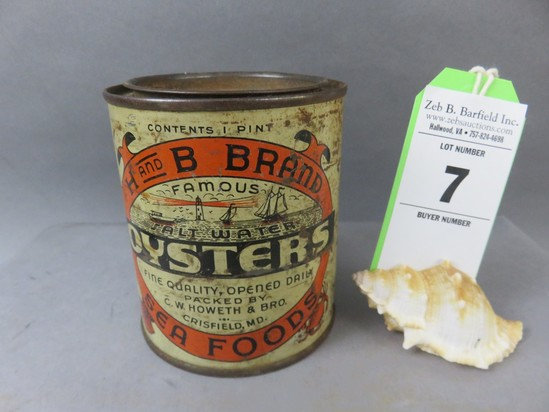 H and B Oyster Can