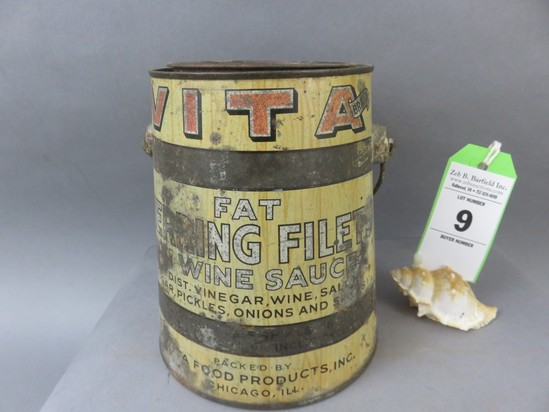 Bail Handle Herring Tin