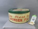Sea Fresh Brand Flounder Filet Tin