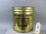 Grasonville Fisheries Clam Tin