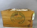 Wooden Shelter Island Oyster Box With Shells