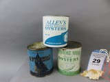Lot of 3 Oyster Cans