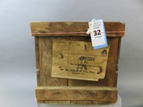 Wooden J.H. Miles Oyster Crate