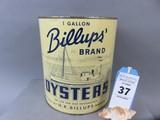 Billups Oyster Can