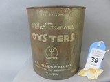 Miles' Famous Oyster Can