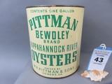 Pittman Bewdley Oyster Can